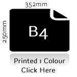 B4 Printed One Colour
