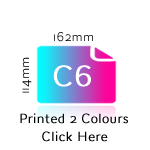 C6 Printed Two Colours