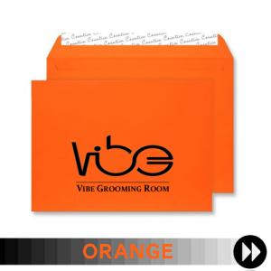 Orange Printed Envelopes