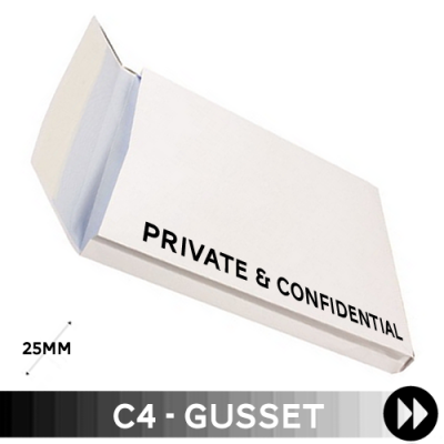 Gusset 324 x 229 x 25mm C4 - Printed 1 Colour