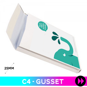 Gusset 324 x 229 x 25mm C4 - Printed 2 Colours