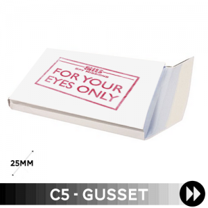 Gusset 162 x 229 x 25mm C5 - Printed 1 Colour