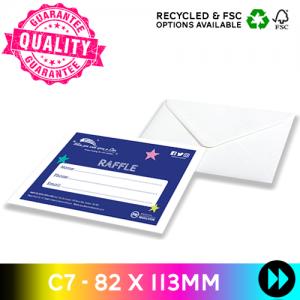 82 x 113mm C7 - Printed Full Colour
