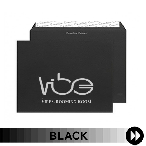 Black Printed Envelopes