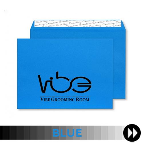 Blue Printed Envelopes