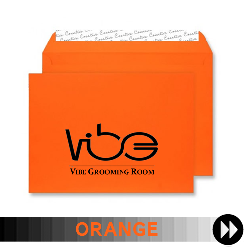 Orange Printed Envelopes