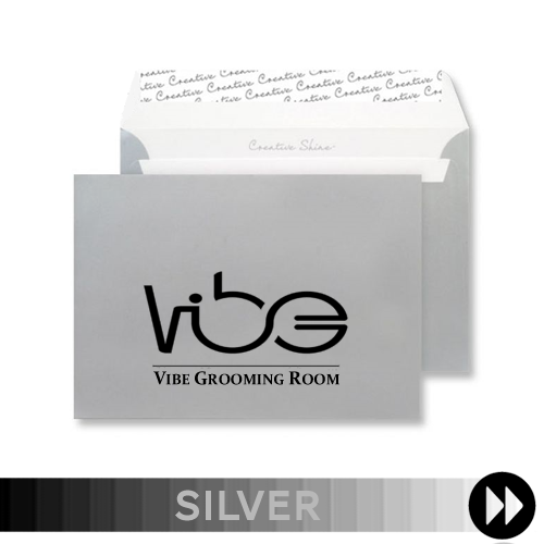 Silver Printed Envelopes