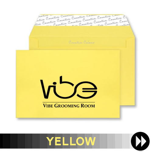 Yellow Printed Envelopes