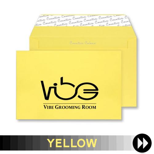 Yellow Printed Envelopes