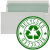 100% RECYCLED - 90gsm, Natural White, Green Inside, Self Seal +£0.04